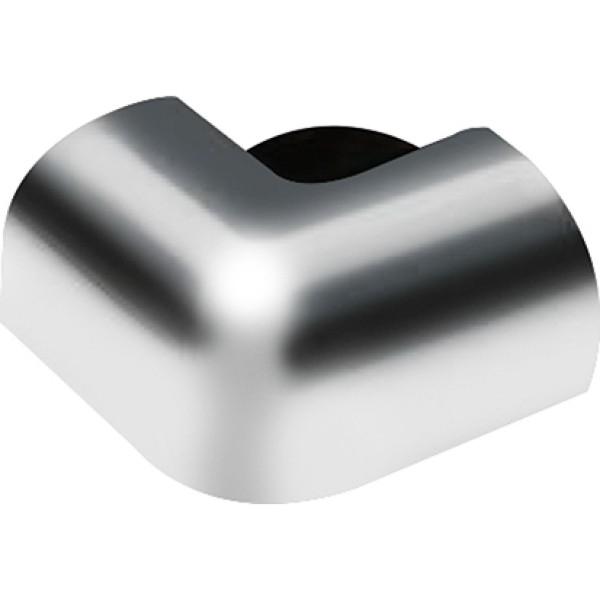 DK Flat Alu Ausseneckverbinder silber glanz