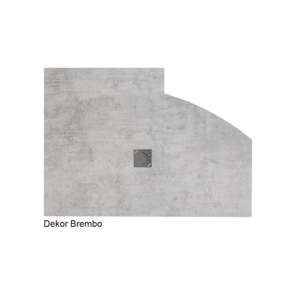 Flat Duschboard | Sonderform mit Punktablauf | ebenerdige Duschwanne