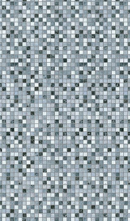 Dekor Mosaik blau (Flat E)
