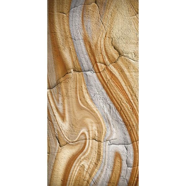 DK Rückwand Flat S Stein marmoriert matt | 3050x1320x3mm, Dekor: beidseitig