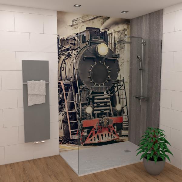 DK Rückwand Flat E Eisenbahn matt | Dekor: einseitig