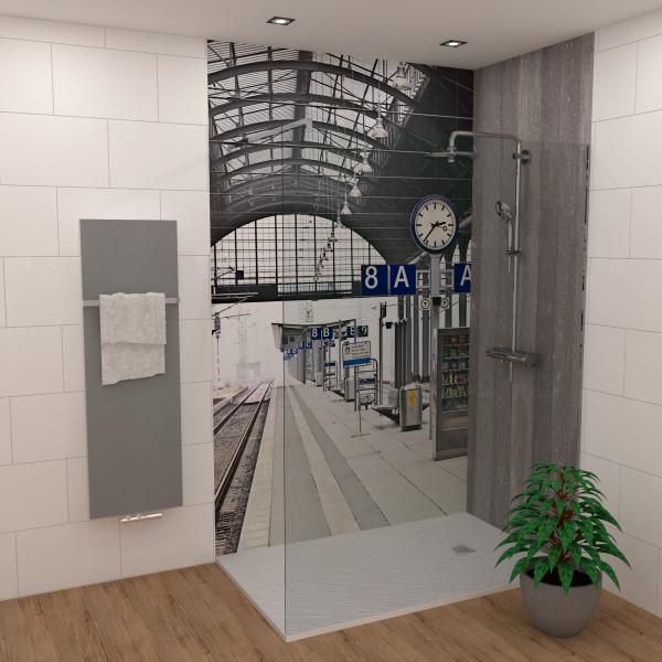 DK Rückwand Flat E Bahnhof matt 3050x1500x3mm Dekor: einseitig