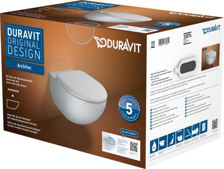 Architec Wand-WC Duravit Rimless® Set