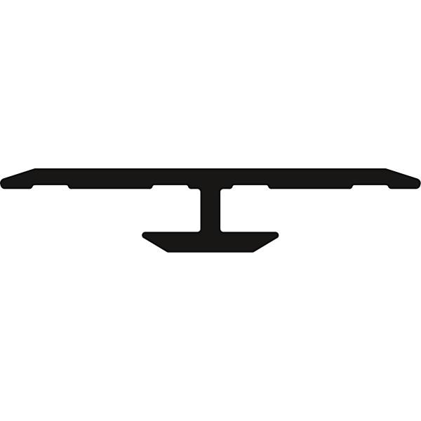 DK Flat Alu Verbindungsprofil silber matt, 3100mm