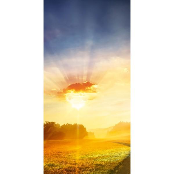 DK Rückwand Flat M in glanz oder matt   Sonnenaufgang   Antibakterielle Oberfläche