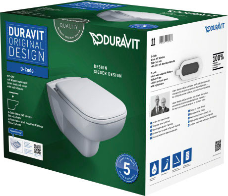 D-Code Wand-WC Duravit Rimless® Set