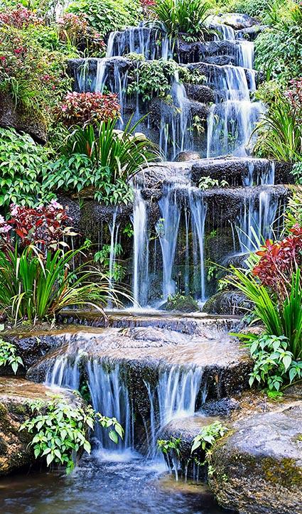 Dekor Tropen Wasserfall (Flat E)