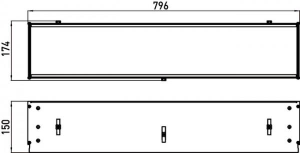 Unterputz Einbaurahmen - Serie Asis | für UP Ablage-Module