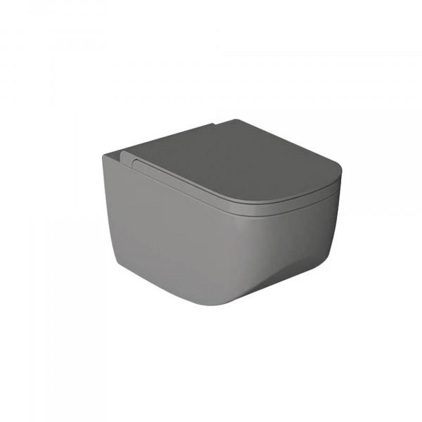 WC-Sitz | anthrazit | mit Absenkautomatik