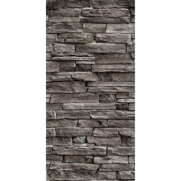 DK Rückwand Flat M in glanz oder matt   Naturstein Wand dunkel   Antibakterielle Oberfläche