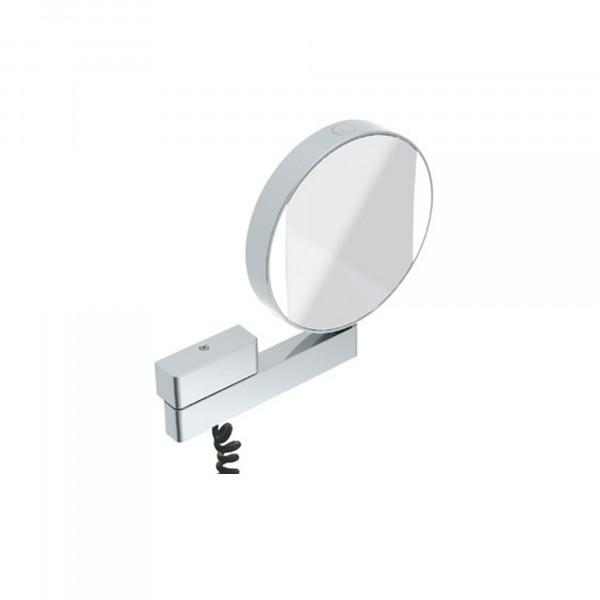 LED Rasier- und Kosmetikspiegel | beidseitig verspiegelt | Netzstecker