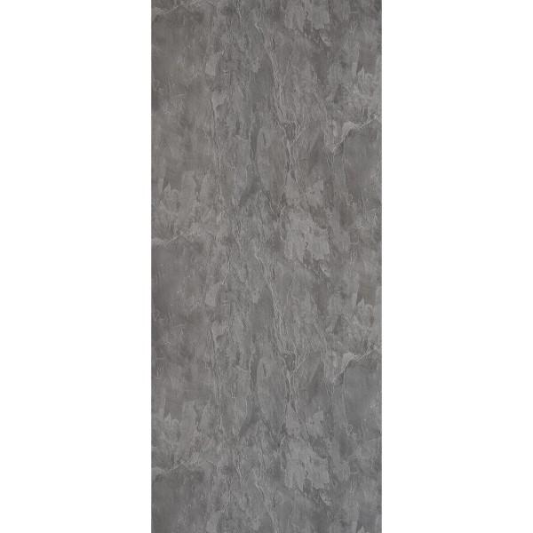 DK Rückwand Flat S grauer Schiefer matt 3050x1320x3mm, Dekor: beidseitig