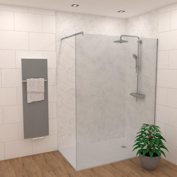 DK Rückwand Flat E Carrara matt | Dekor: einseitig