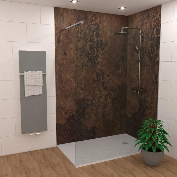 Duschking Rückwand Proline marmoriert Bronze