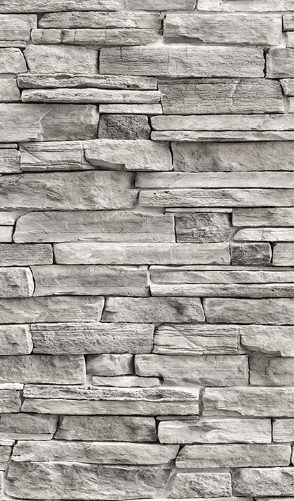 Dekor Natursteinwand grau (Flat E)