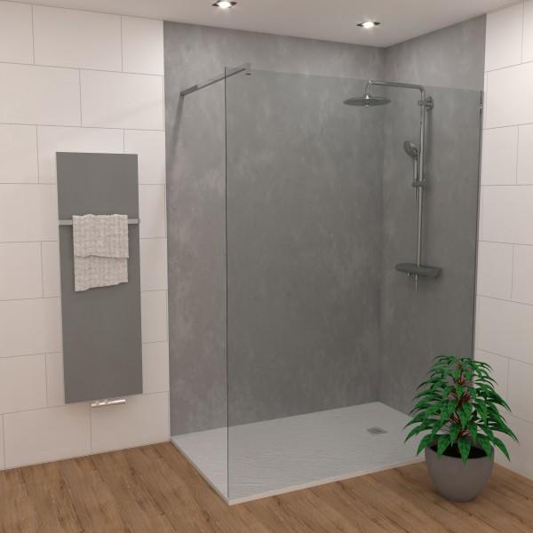 Duschking Rückwand Proline marmoriert hell-grau