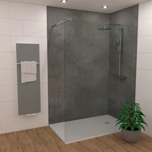 DK Rückwand Flat S beton dunkel matt | 3050x1320x3mm, Dekor: beidseitig