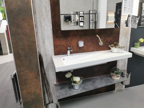 HATRIA GRANDANGOLO 130 raumspar Wand- und | Möbelwaschtisch, rechts, ohne Hahnloch