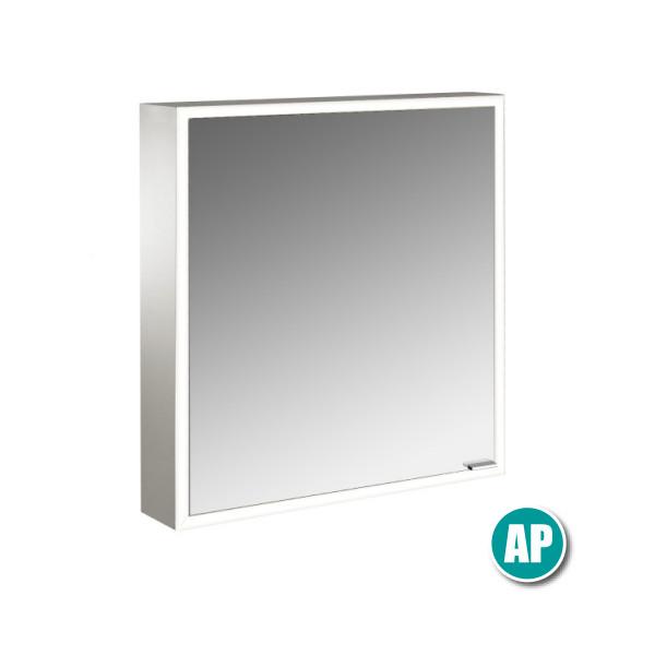 Emco Prime LED Spiegelschrank Aufputz | 600 x 700 mm | Beleuchtung umlaufend
