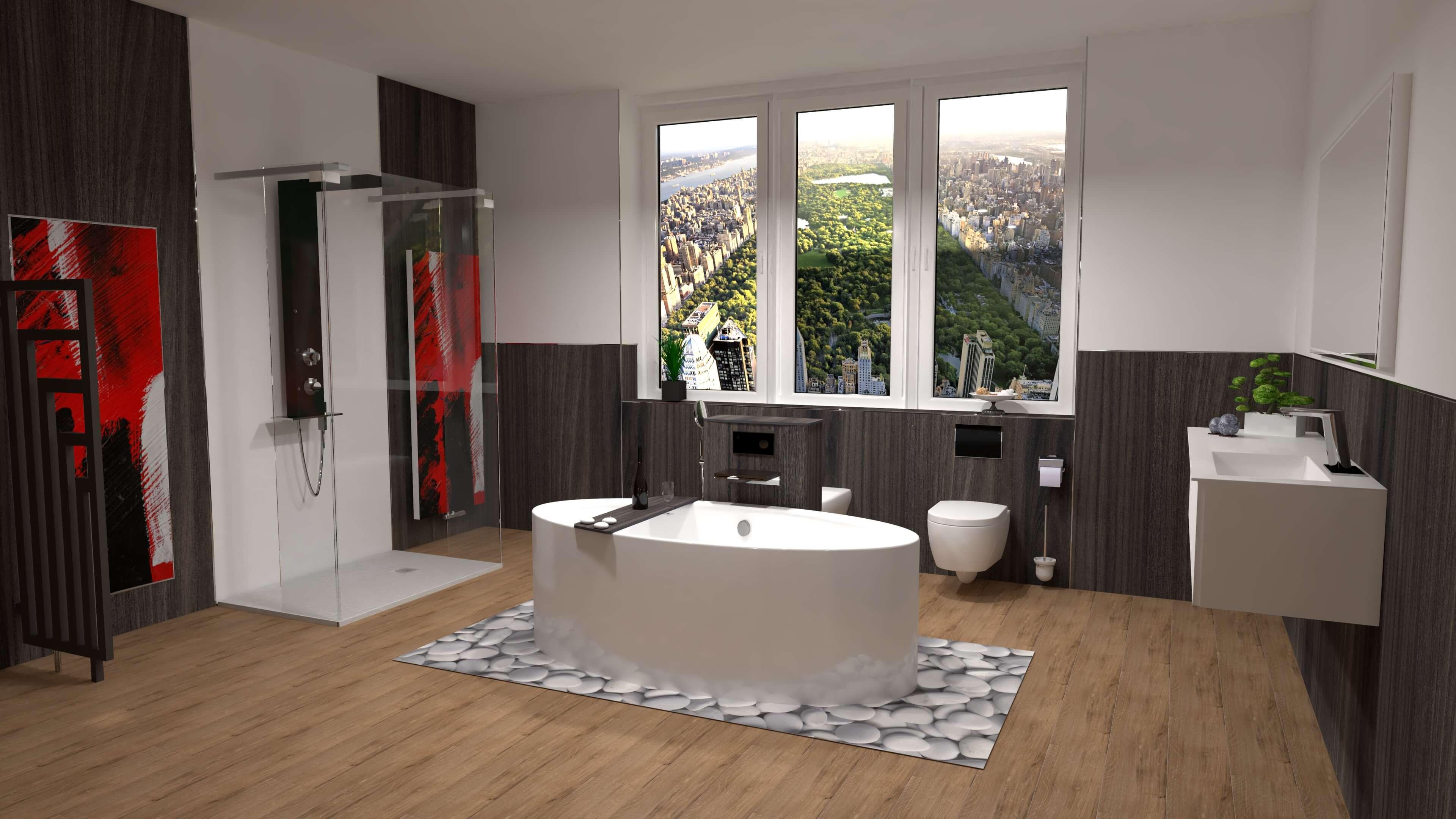 duschking floor eiche dunkel bodenbel ge duschr ckw nde duschking badshop. Black Bedroom Furniture Sets. Home Design Ideas