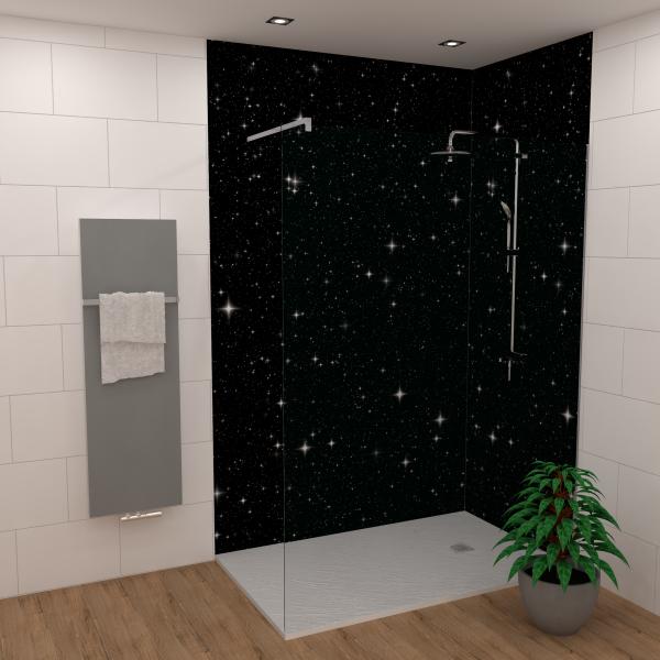 Duschking Rückwand Flat Exklusiv Sternenhimmel