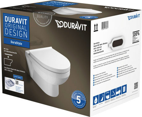 DuraStyle Basic Wand-WC Duravit Rimless® Set