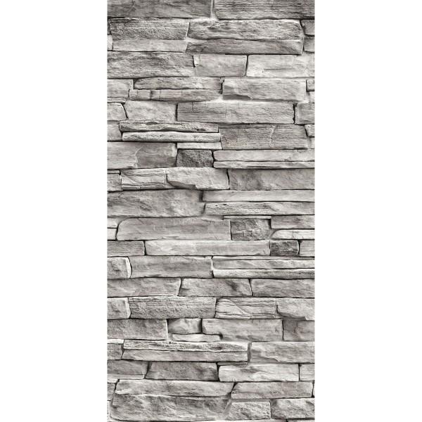 DK Rückwand Flat M in glanz oder matt   Naturstein Wand grau   Antibakterielle Oberfläche