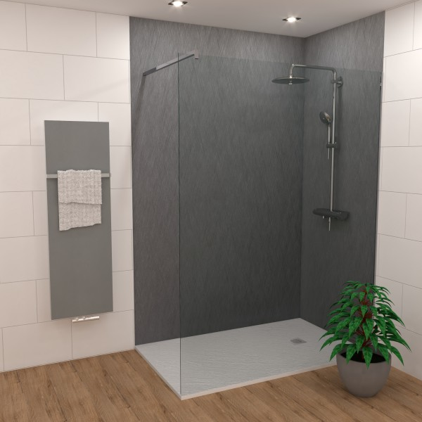 Duschking Rückwand Proline Designschliff Anthrazit