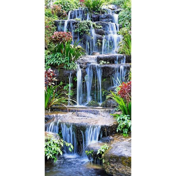 DK Rückwand Flat M in glanz oder matt   Tropen Wasserfall   Antibakterielle Oberfläche