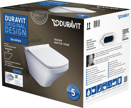 DuraStyle Wand-WC Duravit Rimless® Set