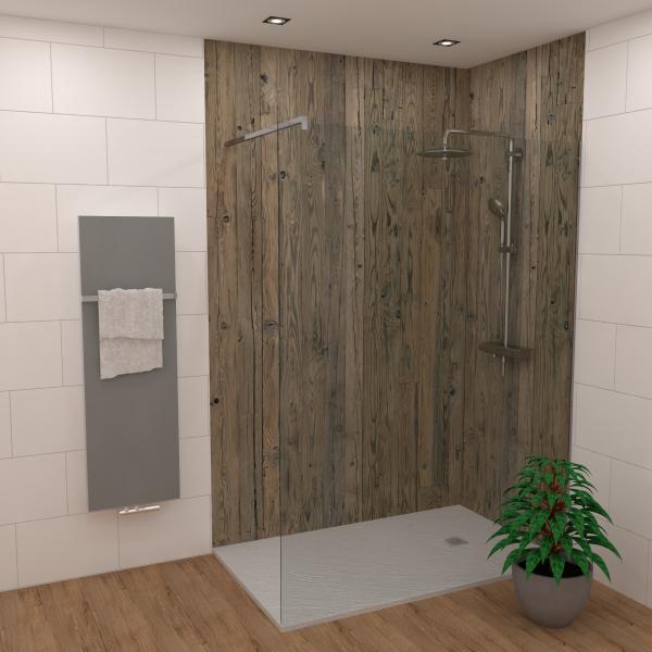 DK Rückwand Flat E Retro Holz matt | Dekor: einseitig