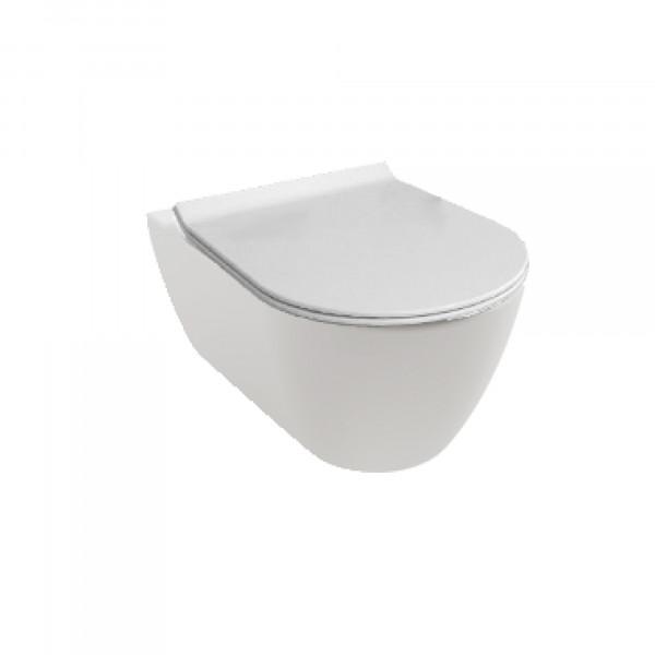 HATRIA FUSION Wandhängendes WC, new ohne Sitz, | weiss, früher YXV9