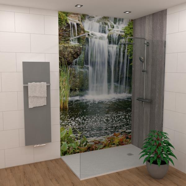DK Rückwand Flat E Wasserfall matt 2550x1000x3mm Dekor: einseitig