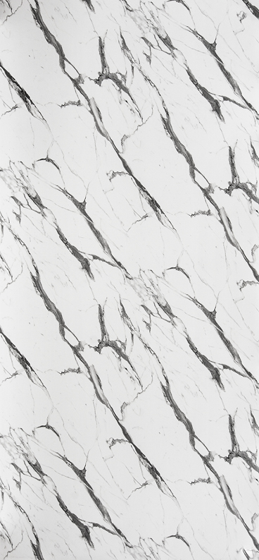 Dekor Marmor weiss-schwarz (Flat S)