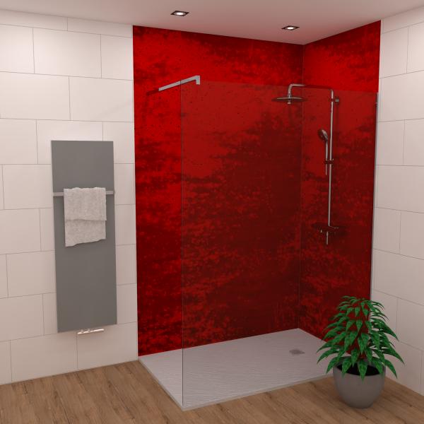 DK Rückwand Flat E Roter Traum matt | Dekor: einseitig