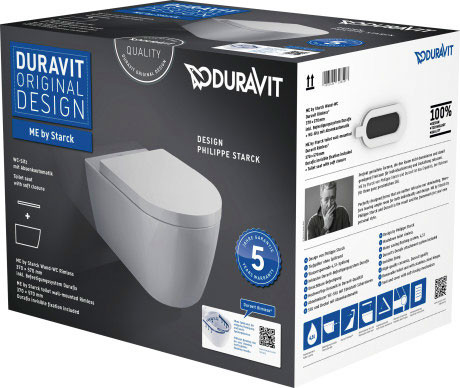 ME by Starck Wand-WC Duravit Rimless® Set