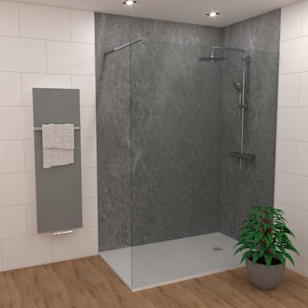 Duschking Rückwand Proline marmoriert dunkel-grau
