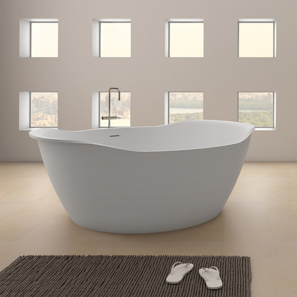 Solid Surface Ovalbadewanne 1500 x 1400