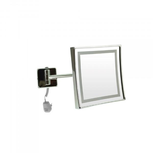 LED Rasier- und Kosmetikspiegel   einarmig   Netzstecker