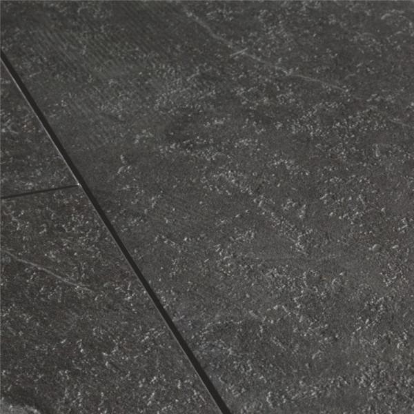 Klebe-Vinyl Boden Designboden Schiefer schwarz   Steindekor