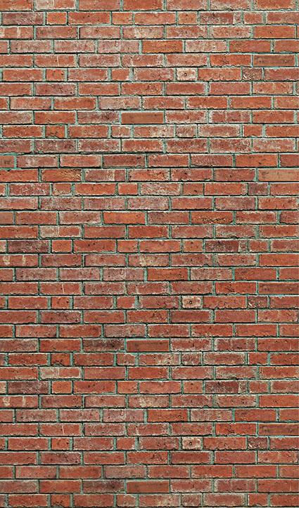 Dekor Ziegelsteinmauer (Flat E)