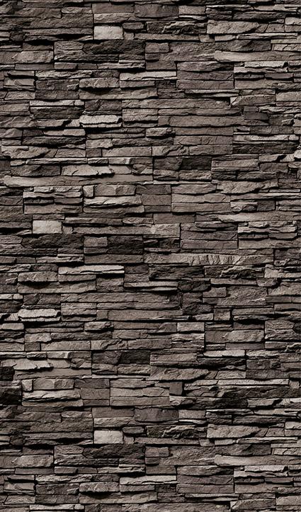 Dekor Naturstein dunkel (Flat E)