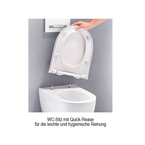 WC-Sitz mit Absenkautomatik | weiss | Quick Release