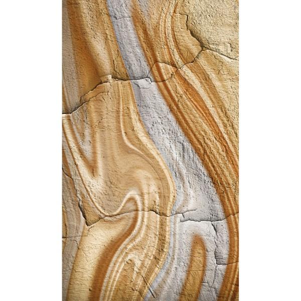 DK Rückwand Flat M in glanz oder matt | Steinmaserung | Antibakterielle Oberfläche