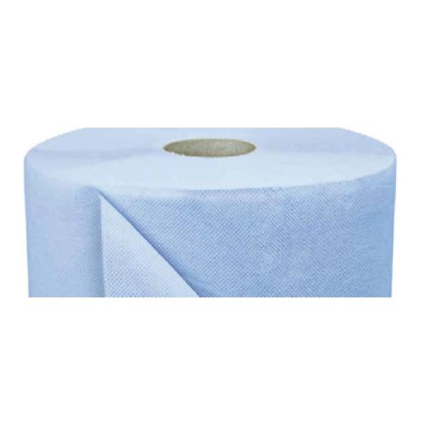 DK Putzpapier, Rolle, 1000 Tücher, 3-lagig 37x36 cm, blau, 100% Zellstoff