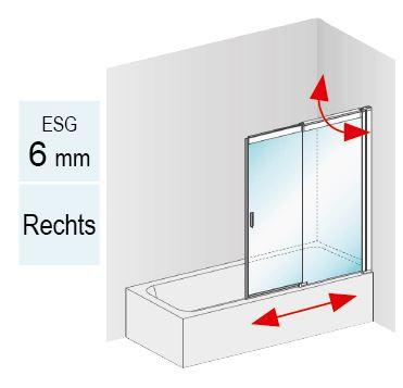 Innovation Pendel- Schiebetür als Badewannenaufsatz