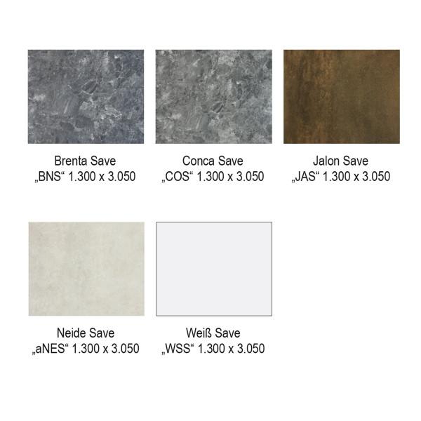 DK Rückwand Flat C   Save Oberfläche   1300 x 3050 mm   Dekor: beidseitig