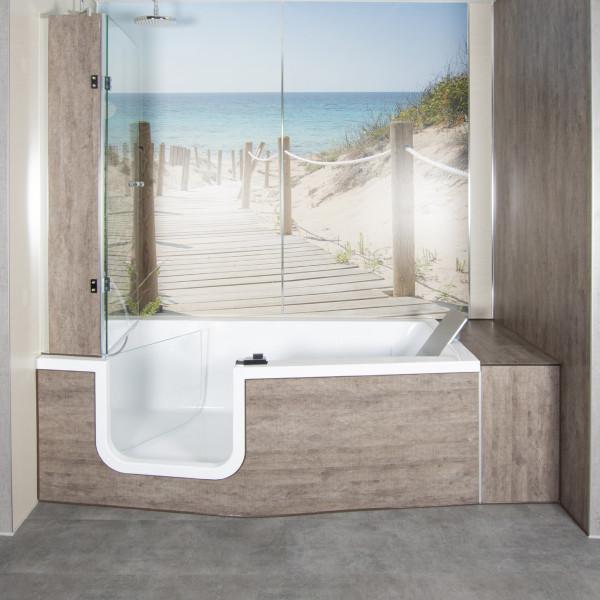Flat Frontschürze / Seitenschürze   Zubehör Doppia Dusch- Badewanne