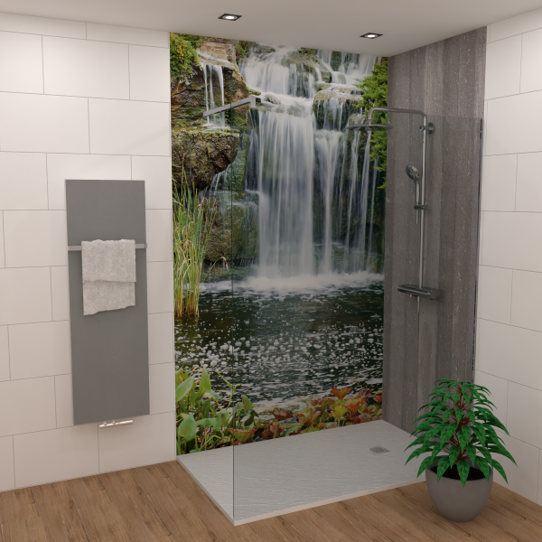 DK Rückwand Flat E Wasserfall matt 2100x900x3mm Dekor: einseitig