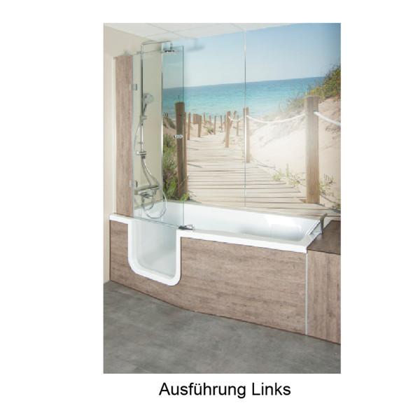 Acryl Dusch- Badewanne Doppia